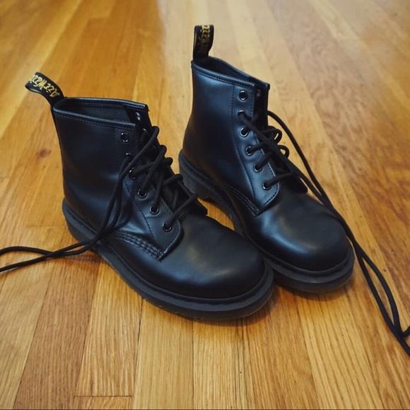 850793b4d Dr. Martens Shoes | Classic 101 Smooth Black 6 Eye Dr Martens | Poshmark